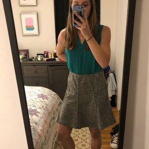 Loft Flippy flannel skirt